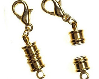Gold Plated Magnetic Clasp w/ Lobster Claw (6)