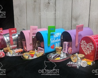Personalized Valentine's Day Mailbox with Candy