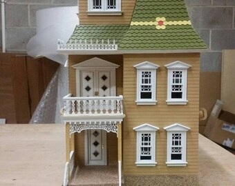 Wooden Dollhouse Kit, The Blair Estate, Half Inch Scale 1:24 Victorian Wooden Dollhouse Kit, SHIPS WORLDWIDE