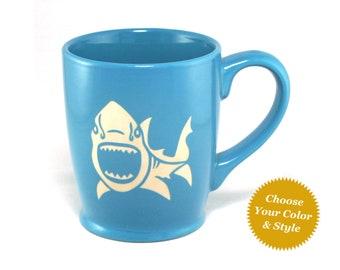 Shark Mug - Choose Your Nautical Cup Color