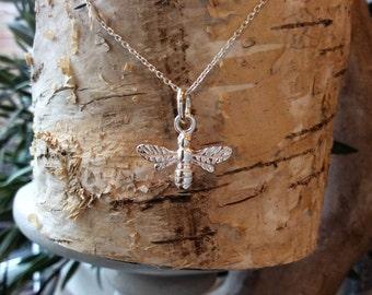 Sterling Silver Bee Pendant Sterling silver bee Earrings