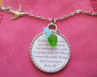 Her Children Arise And Call Her Blessed Proverbs 31 28 29,christian woman gift,bible verse gift