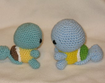 Chibi Squirtle OR Shiny Squirtle amigurumi plush