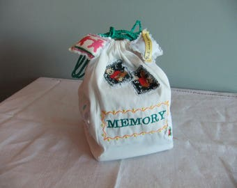 Memory game two-ply foam with storage pouch