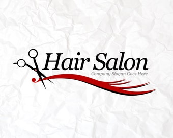 Hair Salon Hairdresser Beauty Logo Design Editable Template. Instant download Vector and Photoshop Template.