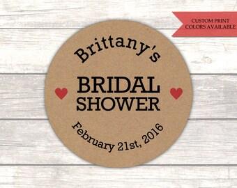 Bridal shower stickers - Rustic bridal shower - Bridal shower labels - Rustic stickers - Kraft stickers (RK006)