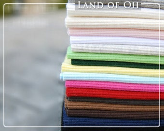 Ribbing Fabric Cotton Rib Knit - Choose From 13 Colors - By Half Yard - 1410