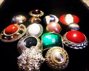 Bold Vintage Upcycled Hand Made-Rings