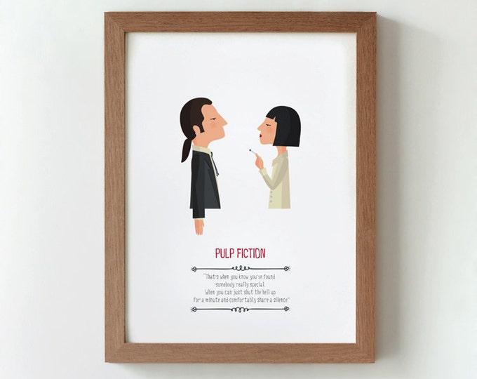 """Ilustración """"Pulp Fiction"""". Basada en la película de Quentin Tarantino."""