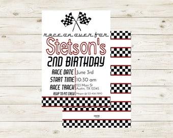 RACE   Racecar Birthday Invitation   Racecar Birthday Invite   Racecar Birthday Invite   Racecar Birthday   Racecar Invite   Boy Birthday