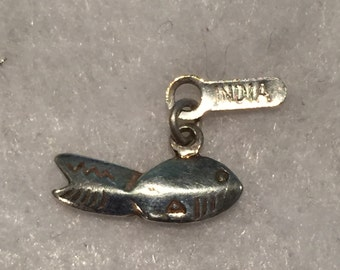 Sterling Fish Charm (India) - CA 1960's -Item# CH327