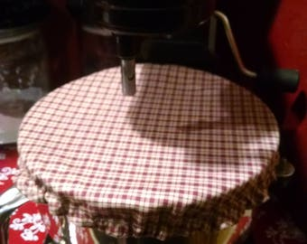 Kitchenaid/Stand Mixer Prim/Homespun/Cranberry Bowl Cover
