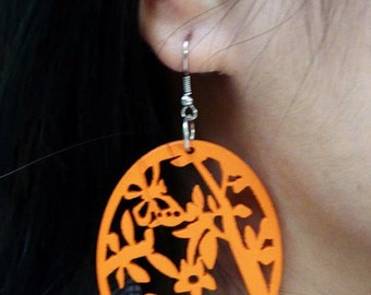 SALE the little birds wood Earrings