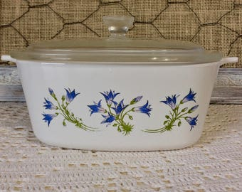 Vintage Corning Ware Covered Casserole A-1 1/2-B, 1 1/2 Quart/1.5 L, Blue Dusk - RARE HTF Retired Pattern - Casserole Dish With Lid, 1994-97
