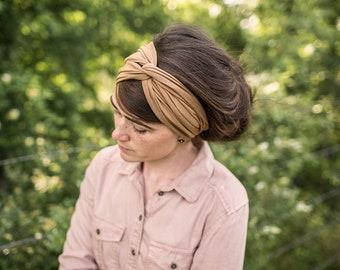 Twist stretch headband in BRONZE-  Garlands of Grace hair head band headwrap