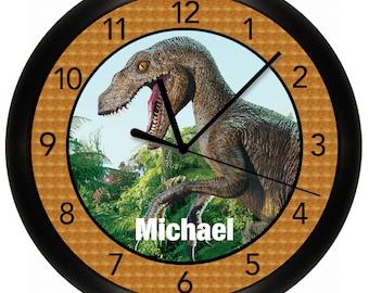 Dinosaur Wall Clock 10 inches Diameter T-Rex