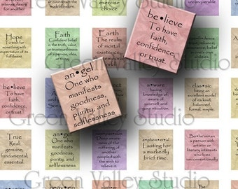 INSTANT DOWNLOAD Art Words Meanings Definitions Dictionary Digital Images Collage Sheet for Scrabble Tile Pendants .75 x .875 Inch (S20)