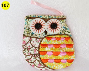 Owl coin purse Small zipper bag, small cosmetic pouch, medicine pouch, gadget bag, utility bag assorted coin purse
