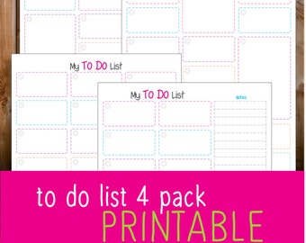 to do list 4 pack