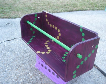 MaRDI GRaS LaDDER SEAT ARTWORK- Gris Gris Art- Best Baby Shower Gift- Hot Item- Custom Created Hand Paint MaRDI GRaS PARaDE SEAT New Orleans