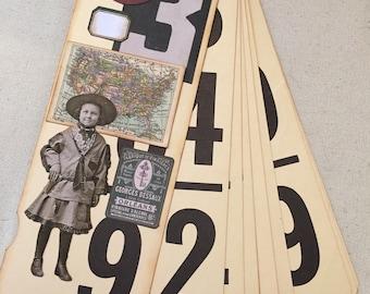 Altered vintage flashcard junk journal