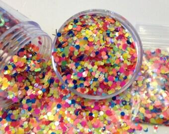 Glitter Solvent Resistant Rainbow Bright Custom Blended Matte Polish Glitter Mix