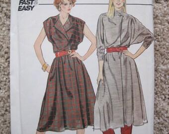 UNCUT Misses Dress - McCalls Pattern 4537 - Vintage 1980's