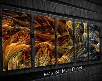 Modern Metal Wall Art Sculpture for Interior and Exterior Liquid Flames