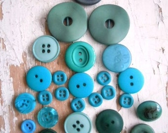 Lot of Green and Blue buttons