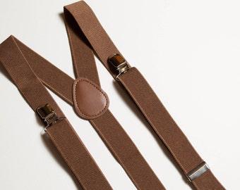 Brown Suspenders Wedding suspenders Mens suspenders Mens braces Groomsmen suspenders Adult suspenders Wedding outfit Best man outfit Bow tie