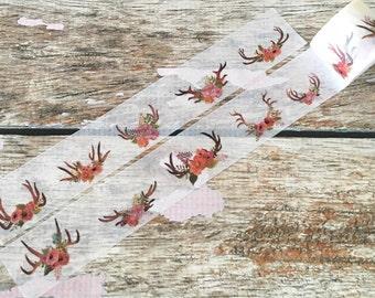 Floral Antlers Washi Tape 30mm