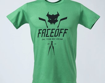 Faceoff T-Shirt Green