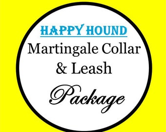 Martingale Dog Collar and 6 Ft Leash Package! (Non Canvas) Dog Collar Set - Choose Any Cotton Fabric in Shop