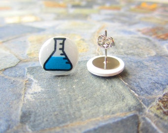 Science Earrings, Chemistry Earrings, Beaker Earrings, Geek Earrings, Science Jewelry, Nerd Jewelry, Nerd Earrings, Chemistry Jewelry