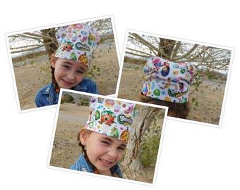 Handmade Wacky Kids Shopkin Inspired Cotton Beanie Chefs Hat Sized to Fit