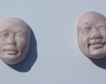 Don't lose your head-polymer clay head cabochons