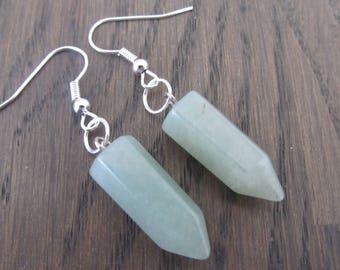 Earrings Bullet Stone