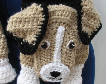 Beagle -  Scarf Crochet Pattern - Dog Theme Gifts - Men's Scarf - Women's Scarf - Beagle Pattern - Animal Pattern - Crochet Dog