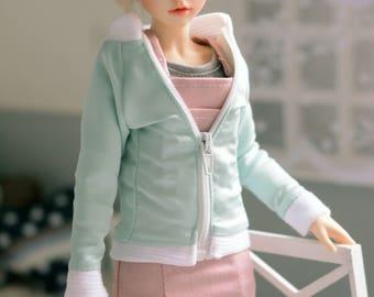 Mint bomberjacket with open end zipper minifee