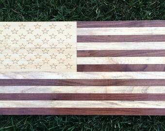 American Flag Walnut Oak Poplar