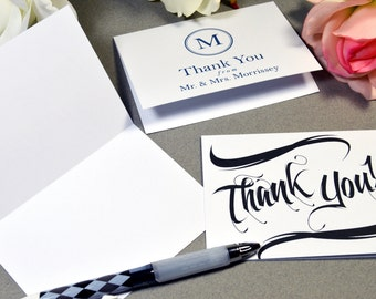 Wedding Thank You Cards, Custom Blank Notecards, Thank You Handmade Small Cards, Personalized Note Cards A1 folded cards by RunkPock Designs