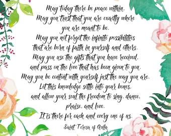 Teresa of Avila Prayer Printable