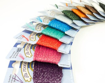 Metallic Embroidery Floss Set | Tonkin Embroidery Thread Collection - VINTAGE COLORS (Asst 1)