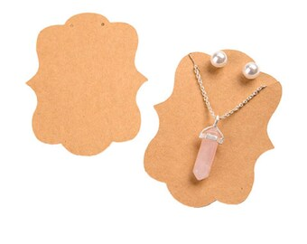 Necklace and Earring Cards by Get Organized™  - 'Made with Love' Kraft - 24 pieces (dar30014768)