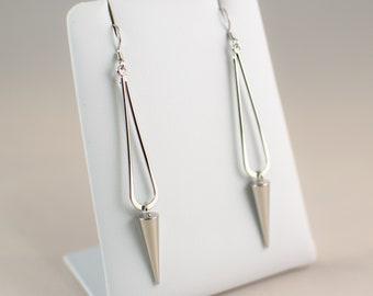 Silver Spike Earrings Silver Plated Everyday Jewelry Jewellery