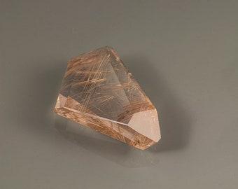 Rutilated Quartz/faceted/designer gemstone/golden Rutile