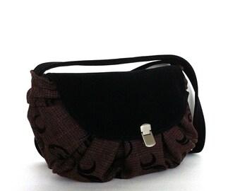 Small purse with flap , burgndy shoulder bag , vegan handbag, evening bag, handmade handbag , side bag , shoulder purse , Canada  shop