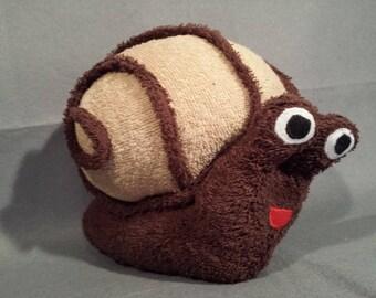 "Plush Stuffed snail ""Bruno"" 30 x 25 cm"