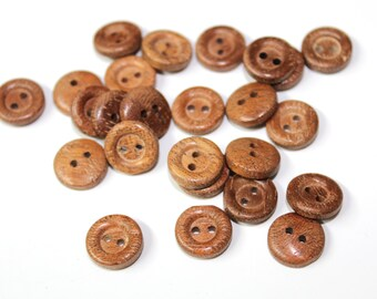 30 PCS Wooden Buttons for Sewing, Fashion and Accessories