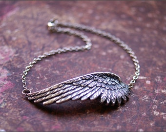 ANGEL WING ANKLET-Beautiful Ankle Bracelet- Meaningful Wife, Mother, Sister, Friend Gift 'Remembrance' by RevelleRoseJewelry